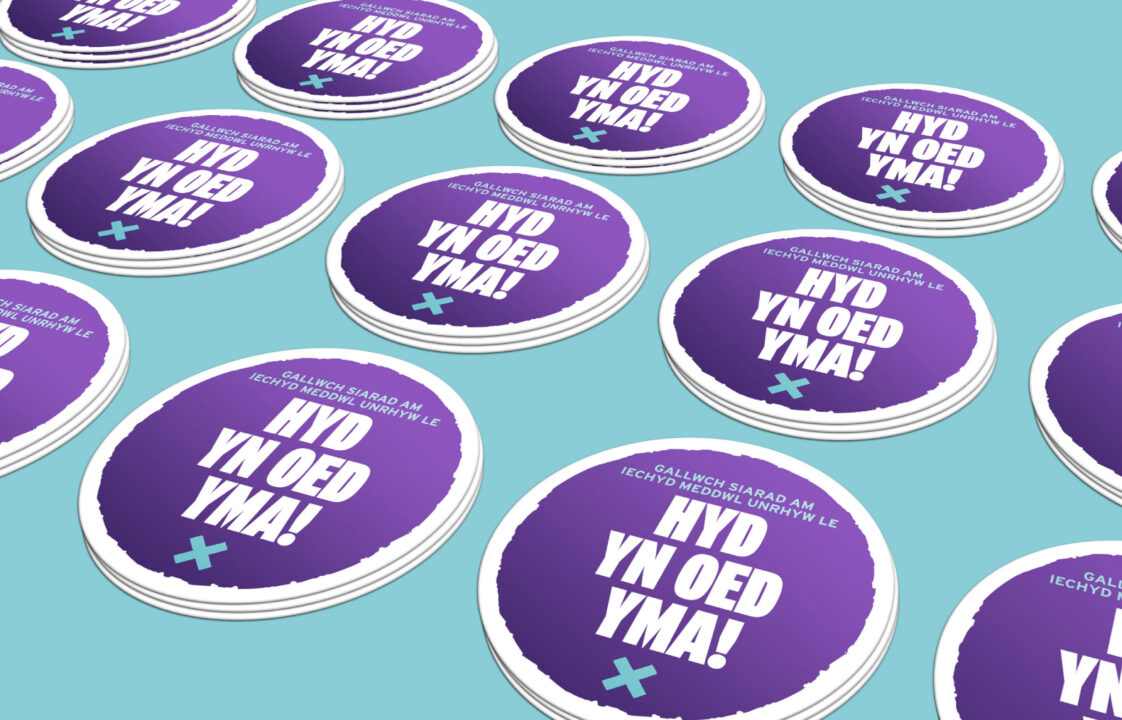 Time to Talk Day coasters - graphic design