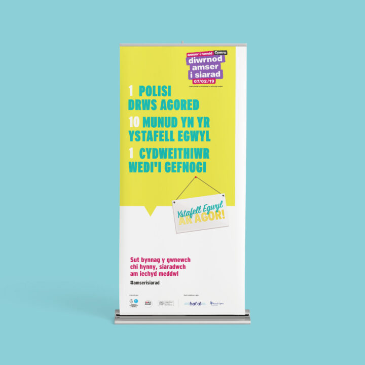 Welsh pull up banner for time to talk day