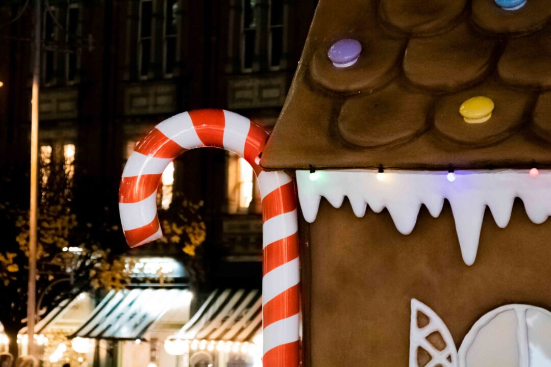 Give Differently gingerbread house