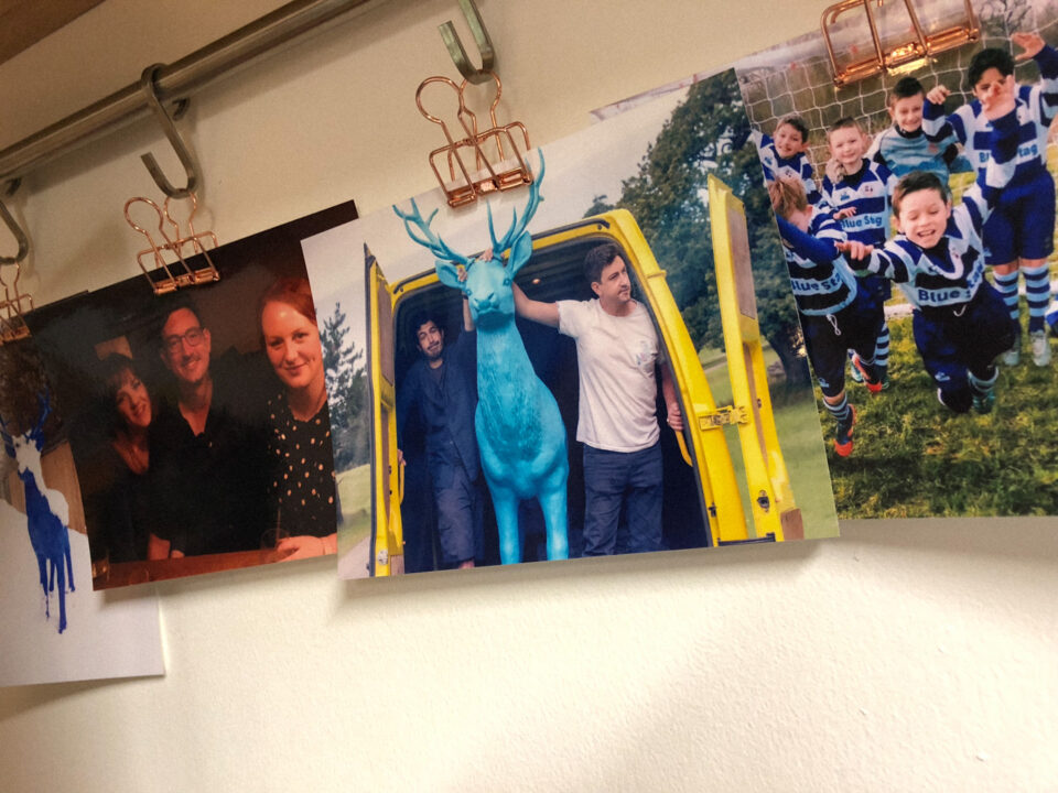 Printed photographs of Blue Stag team