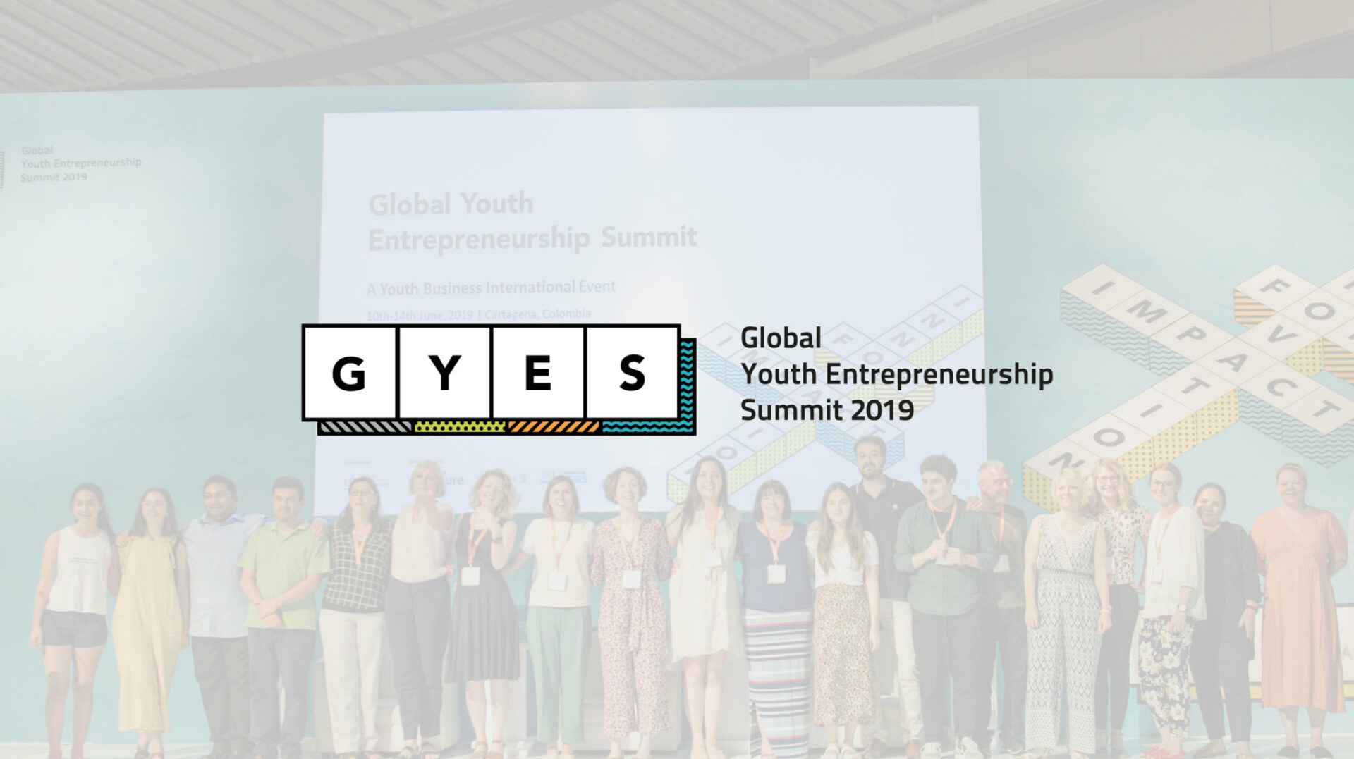 GYES Logo on background image of the event