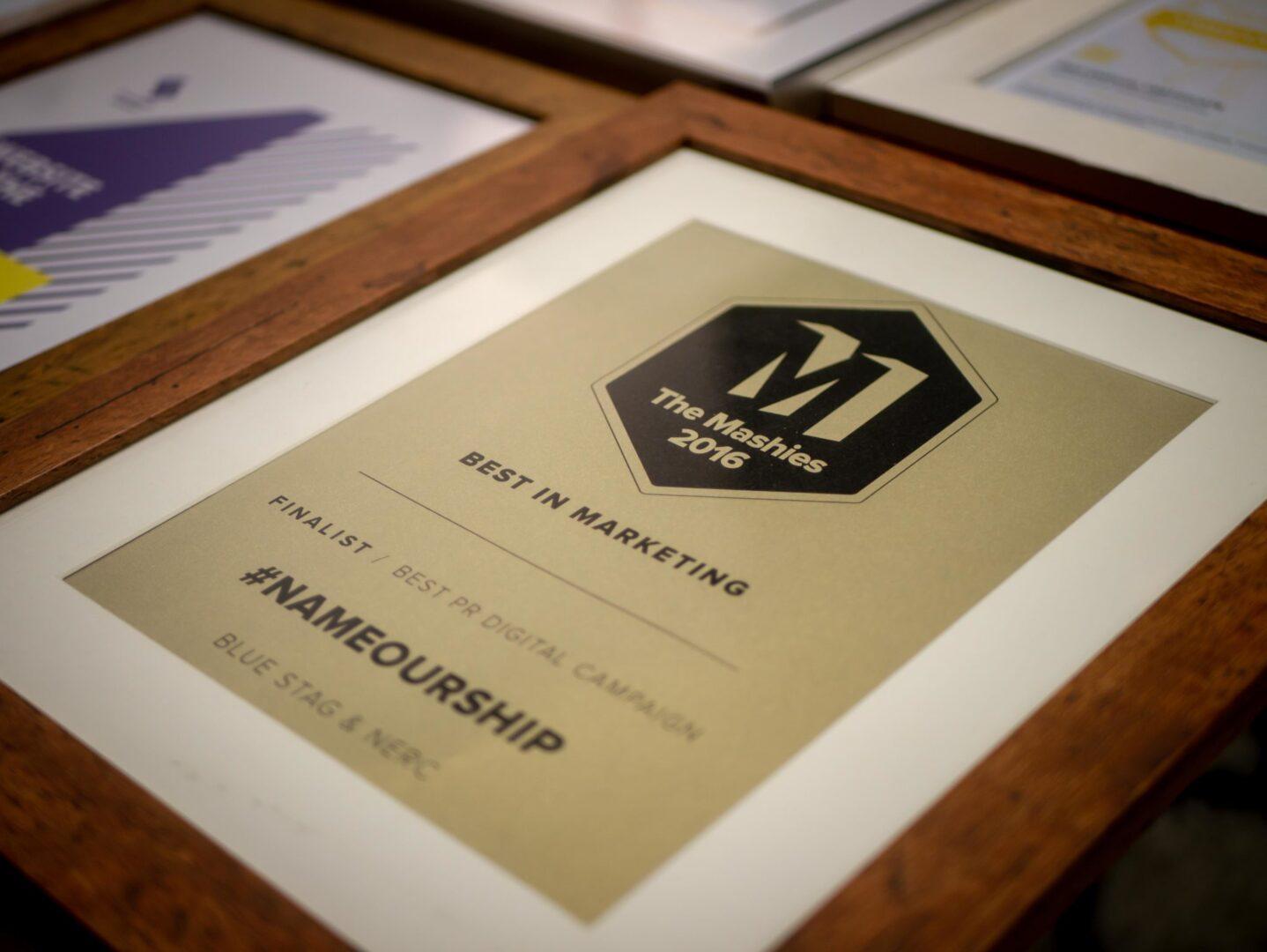 Mashies Award