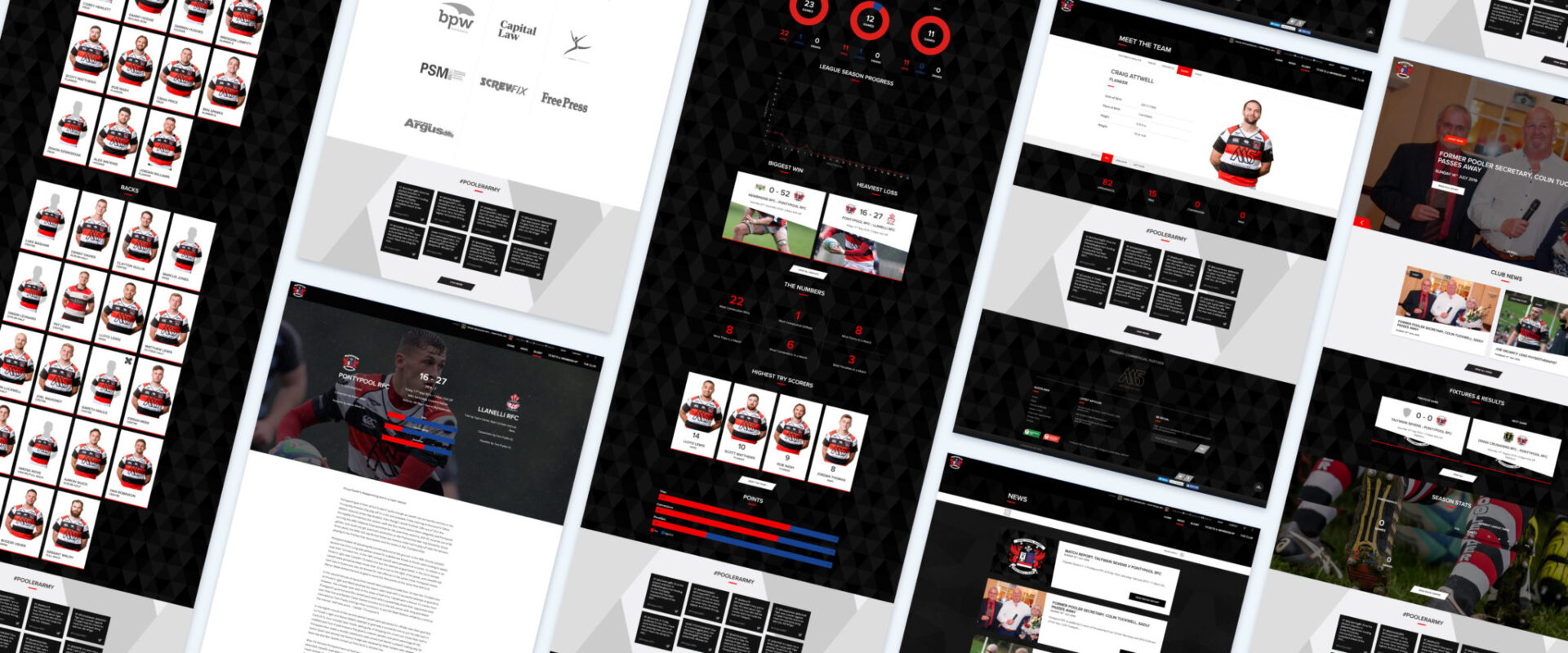 Pontypool RFC Website Snapshot
