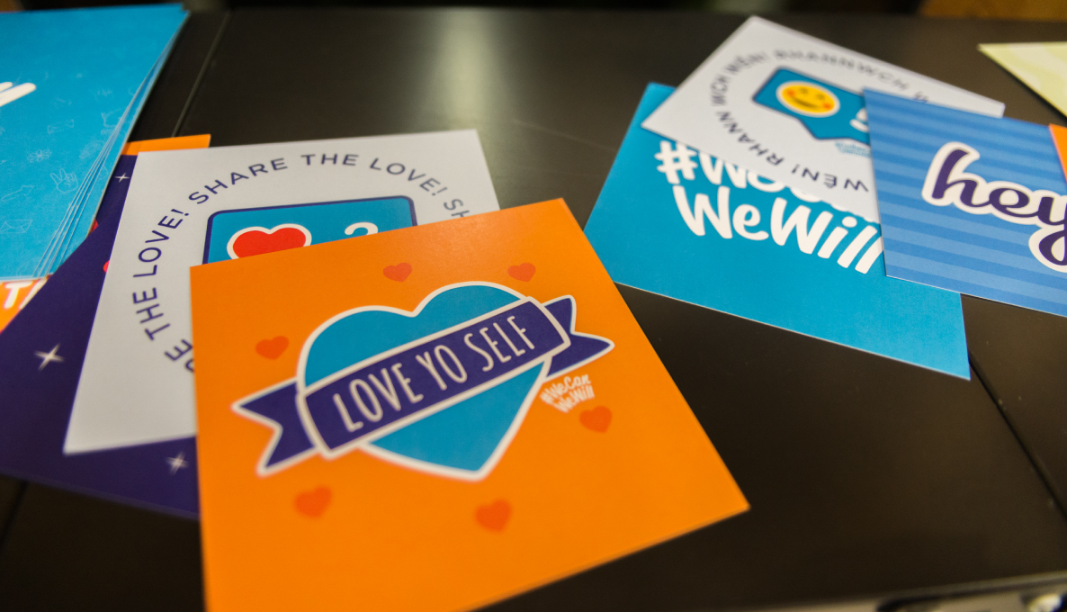 WeCanWeWill Printed cards with illustrated messages