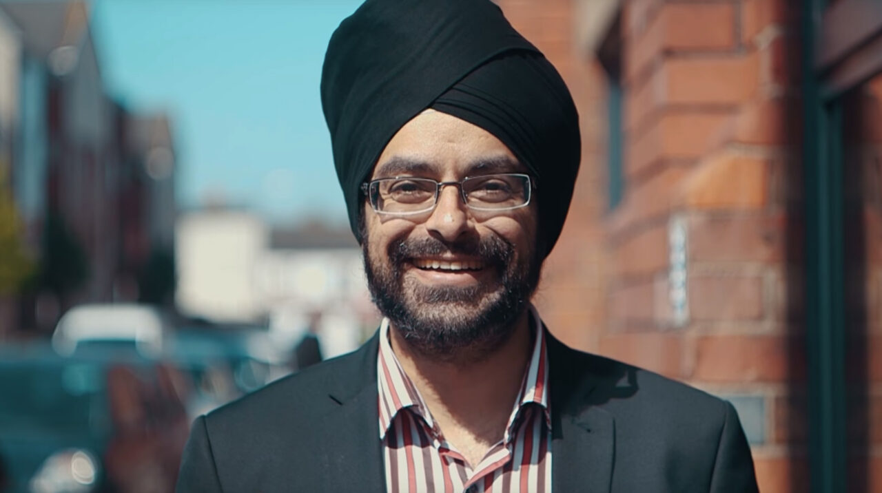 Prab Chadha smiling at camera - GlobalWelsh