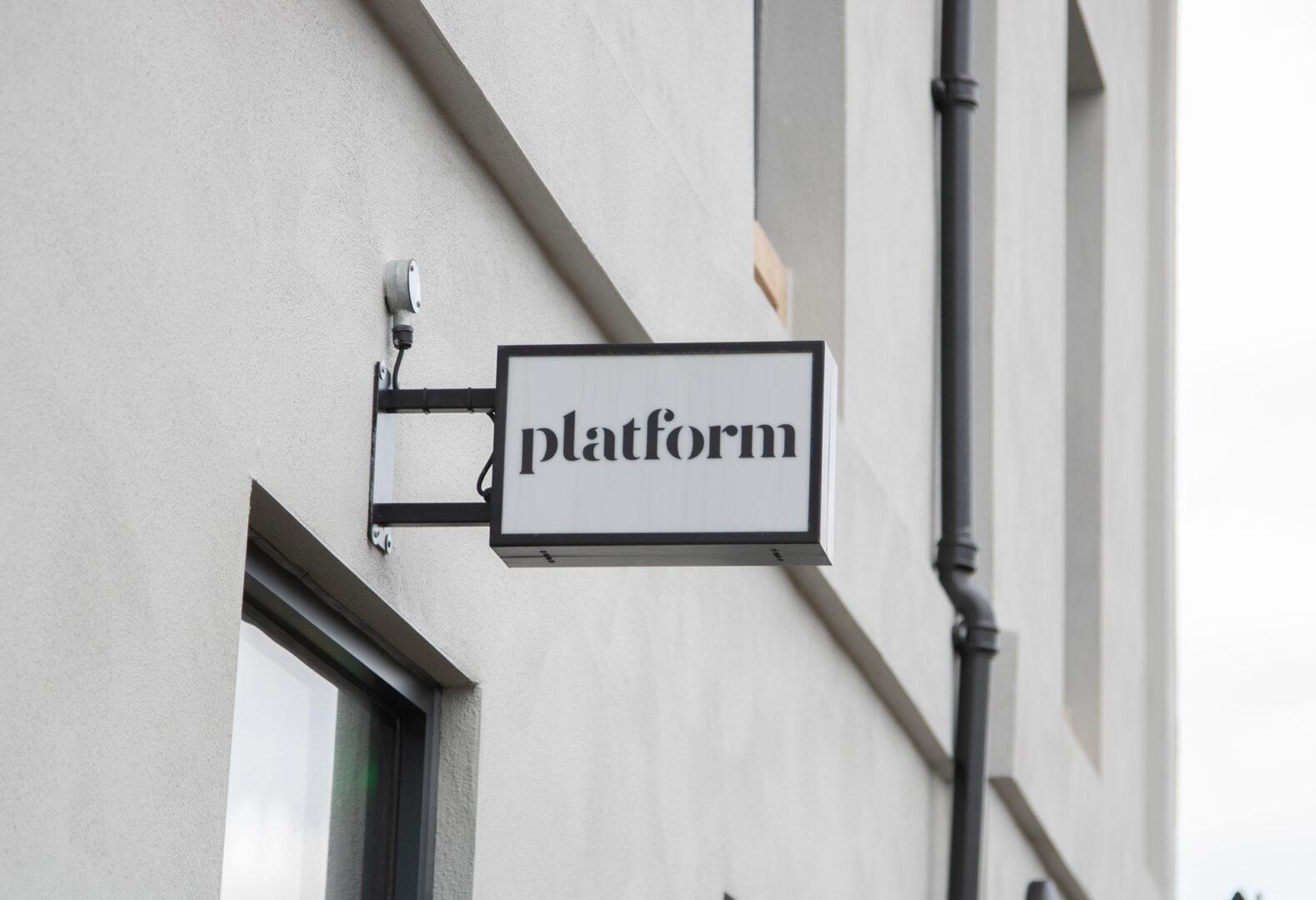 Exciting news - Platform sign