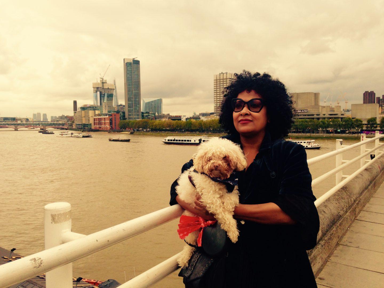 Jo Arscott and Winston on Waterloo Bridge by Jon Daniel