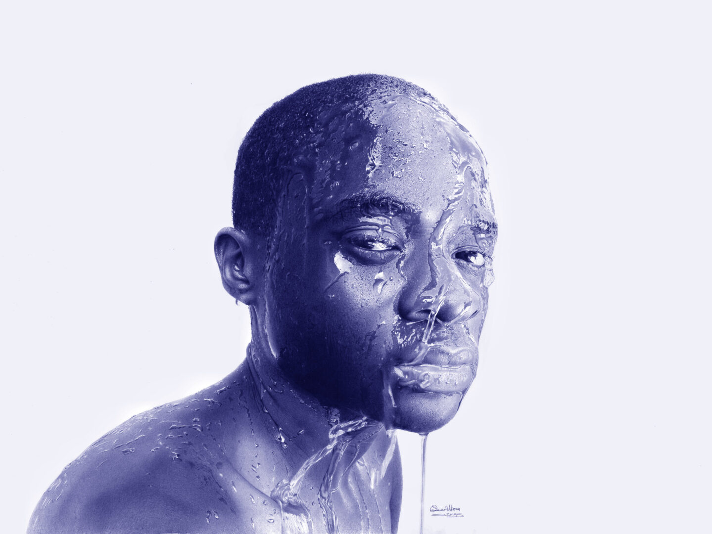Oscar Ukonu - Ballpoint Pen Artwork
