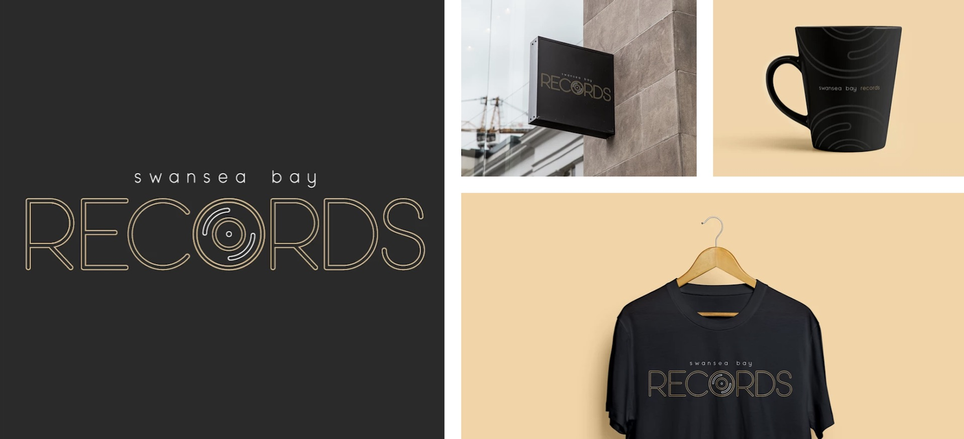 Swansea Bay Record Branding by Ben Ballantyne